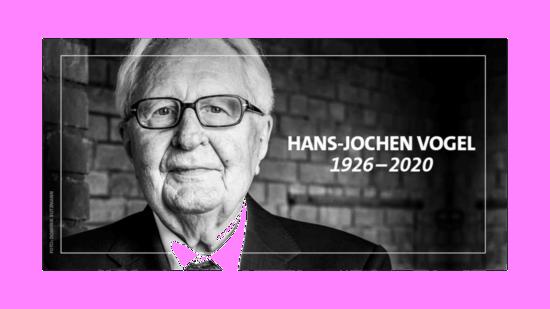 Bild von Hans-Jochen Vogel mit Lebensdaten