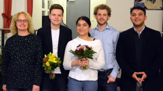 Die neue Doppelspitze der SPD Syke und ihre Stellvertreter