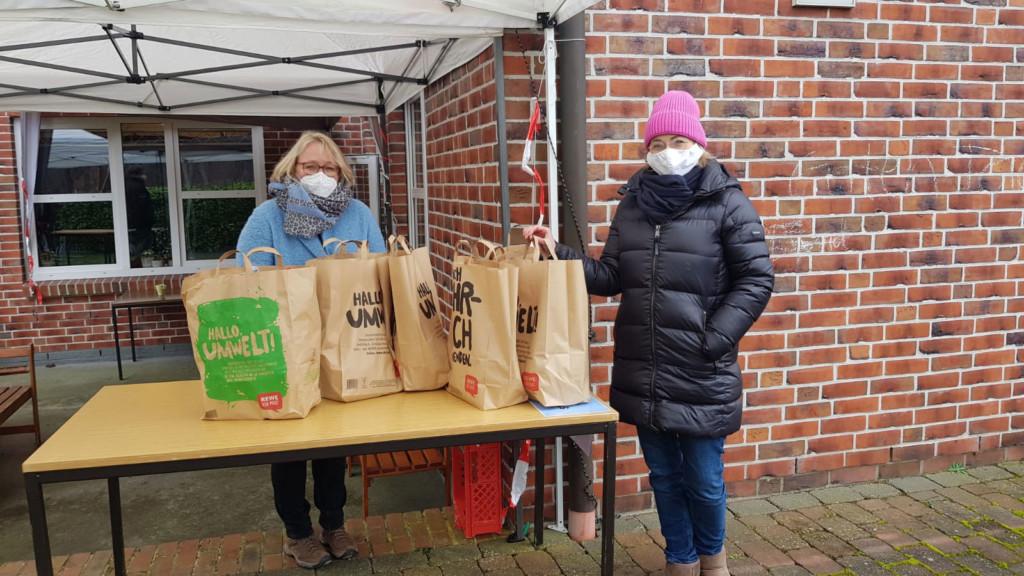 Bürgermeisterin Suse Laue und Bundestagskandidatin Peggy Schierenbeck