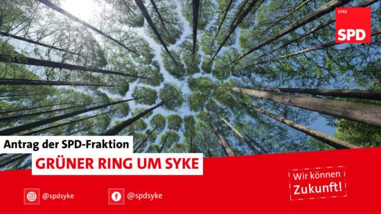 Bild: Bäume und der Titel des Antrags